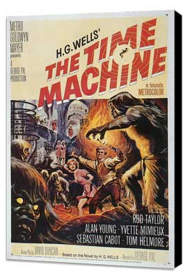 The Time Machine - 27 x 40 Movie Poster - Style A - Museum Wrapped Canvas