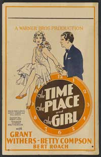 The Time, the Place and the Girl - 14 x 22 Movie Poster - Window Card