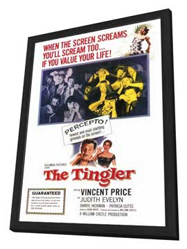 The Tingler - 27 x 40 Movie Poster - Style A - in Deluxe Wood Frame