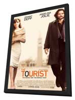 The Tourist - 27 x 40 Movie Poster - Style B - in Deluxe Wood Frame