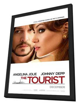 The Tourist - 11 x 17 Movie Poster - Style A - in Deluxe Wood Frame