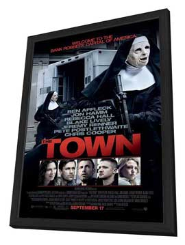 The Town - 27 x 40 Movie Poster - Style A - in Deluxe Wood Frame
