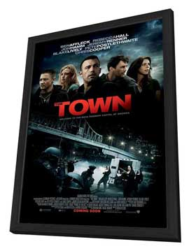 The Town - 27 x 40 Movie Poster - Style B - in Deluxe Wood Frame