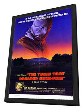 The Town That Dreaded Sundown - 11 x 17 Movie Poster - Style A - in Deluxe Wood Frame