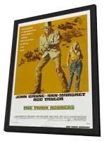 Train Robbers - 11 x 17 Movie Poster - Style A - in Deluxe Wood Frame