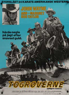 Train Robbers - 27 x 40 Movie Poster - Danish Style A
