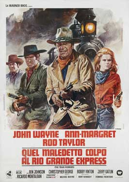 Train Robbers - 11 x 17 Movie Poster - Italian Style B