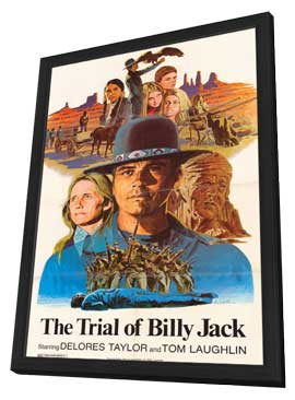 The Trial of Billy Jack - 11 x 17 Movie Poster - Style A - in Deluxe Wood Frame
