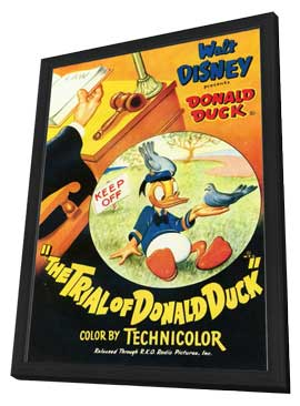 The Trial of Donald Duck - 11 x 17 Movie Poster - Style A - in Deluxe Wood Frame