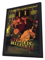The Triplets of Belleville - 11 x 17 Movie Poster - Style A - in Deluxe Wood Frame