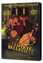 The Triplets of Belleville - 11 x 17 Movie Poster - Style A - Museum Wrapped Canvas