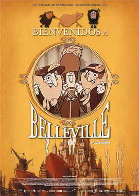 The Triplets of Belleville - 27 x 40 Movie Poster - Spanish Style A