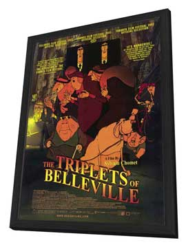 The Triplets of Belleville - 27 x 40 Movie Poster - Style A - in Deluxe Wood Frame