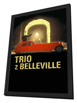 The Triplets of Belleville - 27 x 40 Movie Poster - Polish Style A - in Deluxe Wood Frame