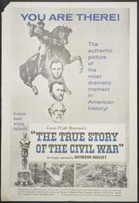 The True Story of the Civil War - 27 x 40 Movie Poster - Style A