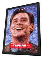 The Truman Show - 11 x 17 Movie Poster - Style B - in Deluxe Wood Frame