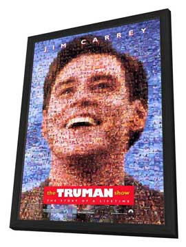 The Truman Show - 27 x 40 Movie Poster - Style B - in Deluxe Wood Frame