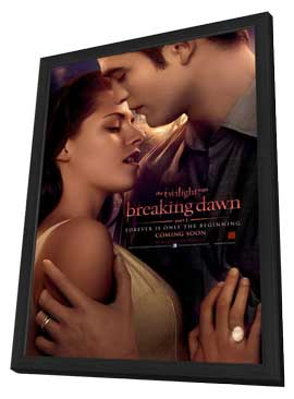 The Twilight Saga: Breaking Dawn - 27 x 40 Movie Poster - Style A - in Deluxe Wood Frame