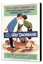 The Ugly Dachshund - 11 x 17 Movie Poster - Style B - Museum Wrapped Canvas