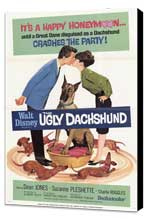 The Ugly Dachshund - 27 x 40 Movie Poster - Style B - Museum Wrapped Canvas
