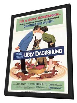 The Ugly Dachshund - 27 x 40 Movie Poster - Style B - in Deluxe Wood Frame