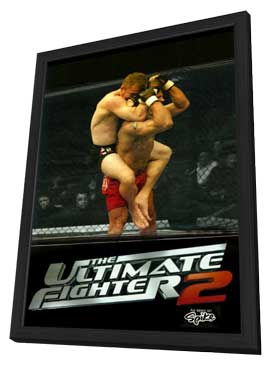 The Ultimate Fighter - 11 x 17 TV Poster - Style B - in Deluxe Wood Frame