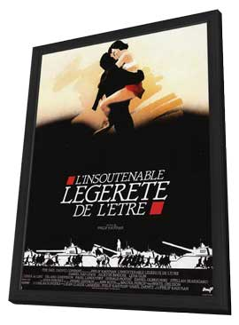 The Unbearable Lightness of Being - 11 x 17 Movie Poster - French Style A - in Deluxe Wood Frame