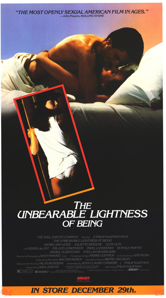 the unbearable lightness of being essay Click here to get an a+ paper at a discount the unbearable lightness of being (movie not book) pick one scene (maybe two) from the film and discuss plot and setting.
