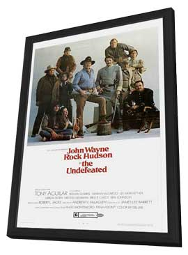 The Undefeated - 11 x 17 Movie Poster - Style B - in Deluxe Wood Frame
