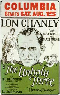 The Unholy 3 - 27 x 40 Movie Poster - Style B