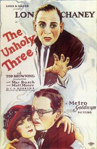 The Unholy Three - 27 x 40 Movie Poster - Style A