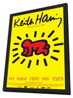The Universe of Keith Haring - 11 x 17 Movie Poster - German Style A - in Deluxe Wood Frame