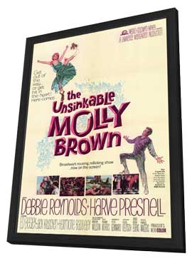The Unsinkable Molly Brown - 11 x 17 Movie Poster - Style A - in Deluxe Wood Frame
