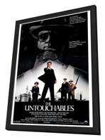 The Untouchables - 27 x 40 Movie Poster - Style A - in Deluxe Wood Frame
