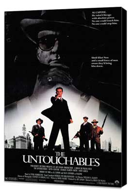 The Untouchables - 11 x 17 Movie Poster - Style A - Museum Wrapped Canvas