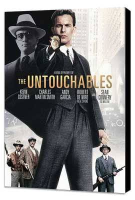 The Untouchables - 11 x 17 Movie Poster - Style D - Museum Wrapped Canvas