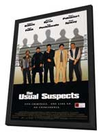 The Usual Suspects - 11 x 17 Movie Poster - Style D - in Deluxe Wood Frame