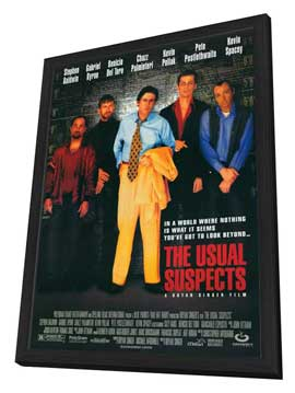 The Usual Suspects - 27 x 40 Movie Poster - Style A - in Deluxe Wood Frame