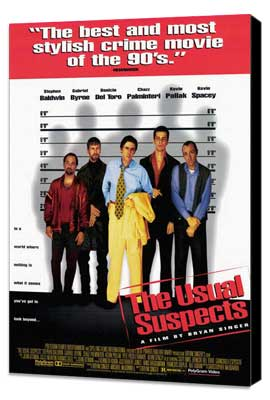 The Usual Suspects - 27 x 40 Movie Poster - Style B - Museum Wrapped Canvas