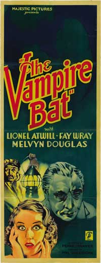 The Vampire Bat - 14 x 36 Movie Poster - Insert Style A