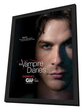 The Vampire Diaries (TV) - 11 x 17 TV Poster - Style H - in Deluxe Wood Frame