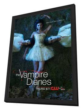 The Vampire Diaries (TV) - 11 x 17 TV Poster - Style Q - in Deluxe Wood Frame