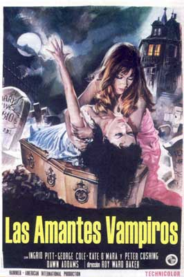 The Vampire Lovers - 11 x 17 Movie Poster - Spanish Style A