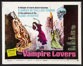 The Vampire Lovers - 22 x 28 Movie Poster - Half Sheet Style A