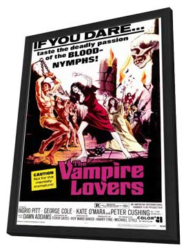 The Vampire Lovers - 11 x 17 Movie Poster - Style A - in Deluxe Wood Frame