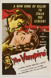The Vampire - 11 x 17 Movie Poster - Style B
