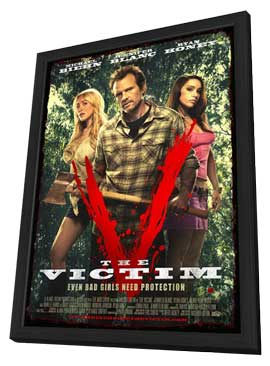 The Victim - 11 x 17 Movie Poster - Style A - in Deluxe Wood Frame