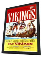 The Vikings - 11 x 17 Movie Poster - Style A - in Deluxe Wood Frame