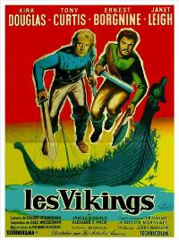 The Vikings - 27 x 40 Movie Poster - French Style B