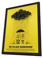 The Village Barbershop - 11 x 17 Movie Poster - Style A - in Deluxe Wood Frame